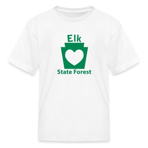 Elk State Forest Keystone Heart - Kids' T-Shirt