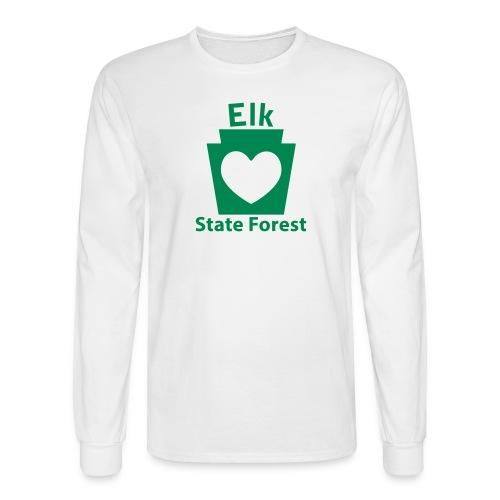 Elk State Forest Keystone Heart - Men's Long Sleeve T-Shirt
