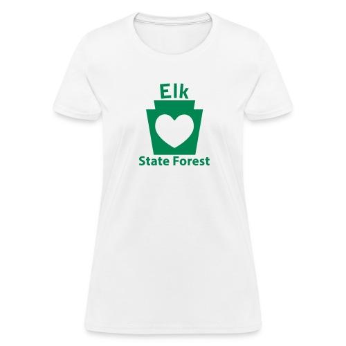 Elk State Forest Keystone Heart - Women's T-Shirt