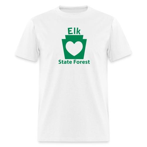 Elk State Forest Keystone Heart - Men's T-Shirt