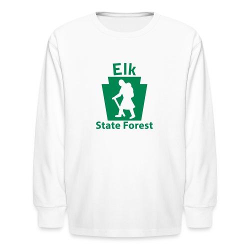 Elk State Forest Keystone Hiker (female) - Kids' Long Sleeve T-Shirt