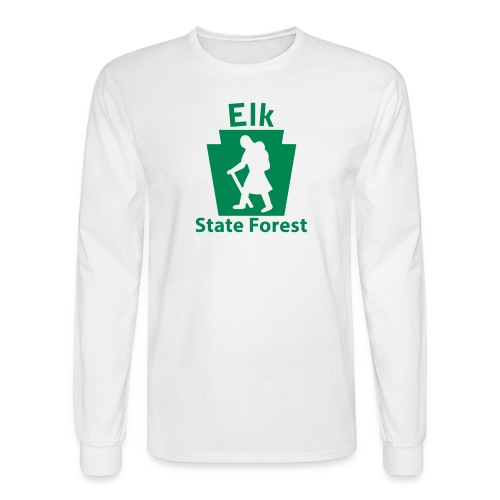 Elk State Forest Keystone Hiker (female) - Men's Long Sleeve T-Shirt