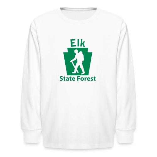 Elk State Forest Keystone Hiker (male) - Kids' Long Sleeve T-Shirt