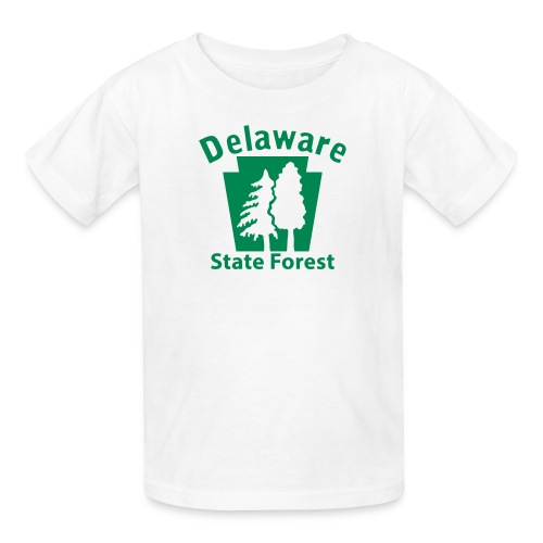 Delaware State Forest Keystone w/Trees - Kids' T-Shirt