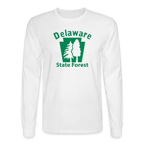 Delaware State Forest Keystone w/Trees - Men's Long Sleeve T-Shirt