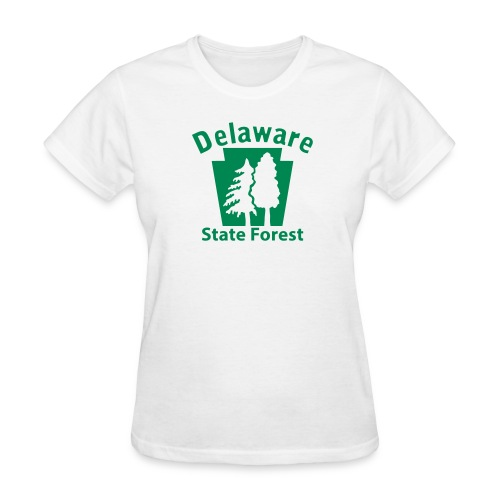 Delaware State Forest Keystone w/Trees - Women's T-Shirt