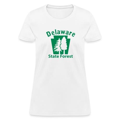Delaware State Forest Keystone w/Trees - Women's T-Shirt