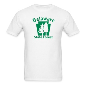 Delaware State Forest Keystone w/Trees - Men's T-Shirt