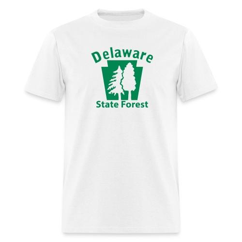 Delaware State Forest Keystone w/Trees - Men's T-Shirt
