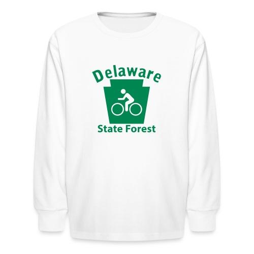 Delaware State Forest Keystone Biker - Kids' Long Sleeve T-Shirt