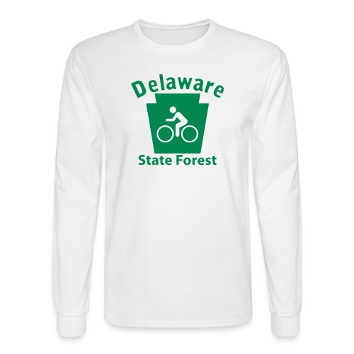 Delaware State Forest Keystone Biker - Men's Long Sleeve T-Shirt