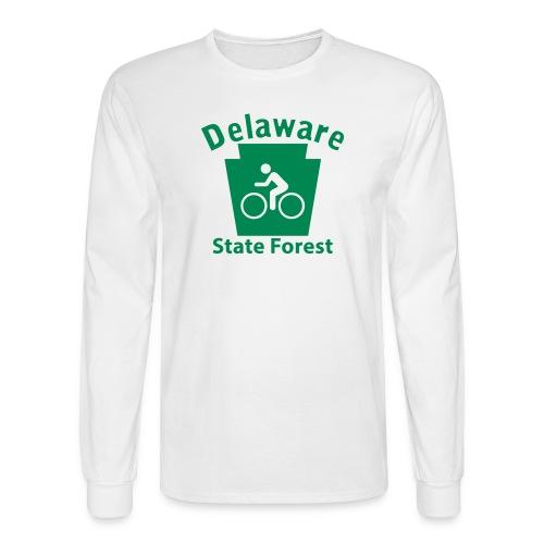 Delaware State Forest Keystone Biker - Men's Long Sleeve T-Shirt