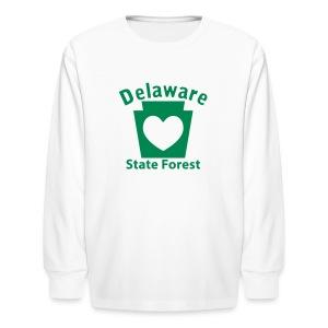 Delaware State Forest Keystone Heart - Kids' Long Sleeve T-Shirt