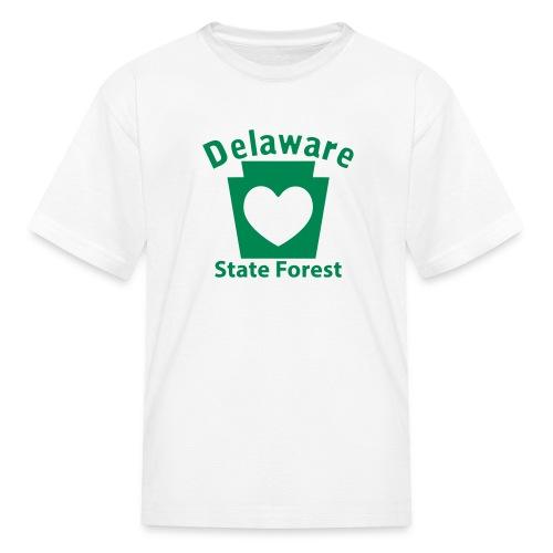Delaware State Forest Keystone Heart - Kids' T-Shirt