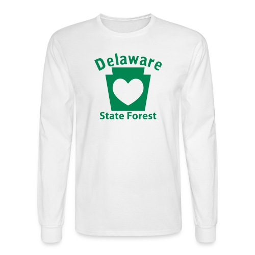 Delaware State Forest Keystone Heart - Men's Long Sleeve T-Shirt