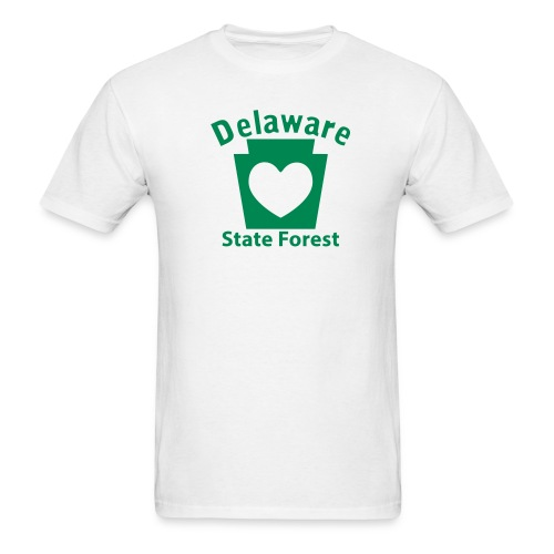 Delaware State Forest Keystone Heart - Men's T-Shirt