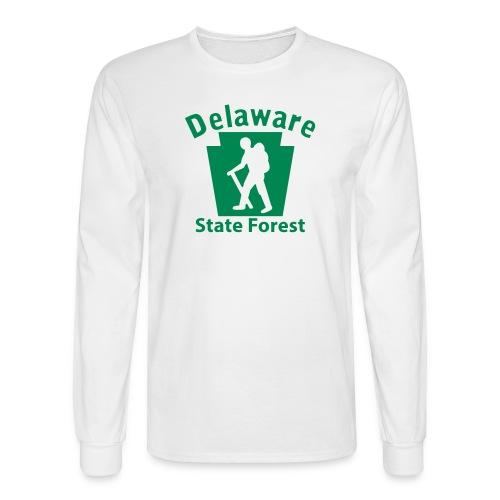 Delaware State Forest Keystone Hiker (male) - Men's Long Sleeve T-Shirt