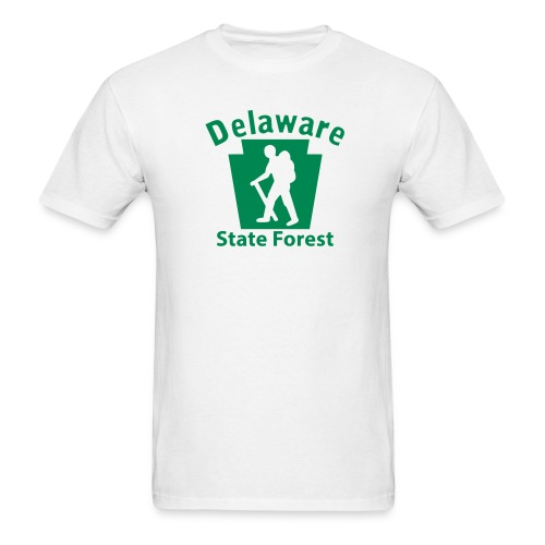 Delaware State Forest Keystone Hiker (male) - Men's T-Shirt