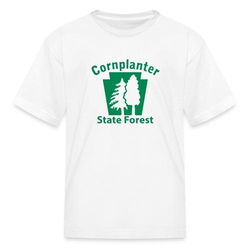 Cornplanter State Forest Keystone w/Trees - Kids' T-Shirt