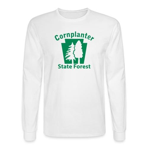 Cornplanter State Forest Keystone w/Trees - Men's Long Sleeve T-Shirt
