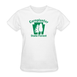 Cornplanter State Forest Keystone w/Trees - Women's T-Shirt