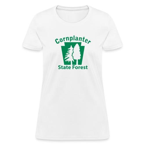 Cornplanter State Forest Keystone w/Trees - Women's T-Shirt