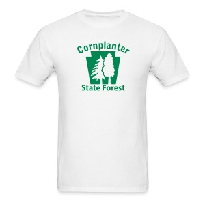 Cornplanter State Forest Keystone w/Trees - Men's T-Shirt