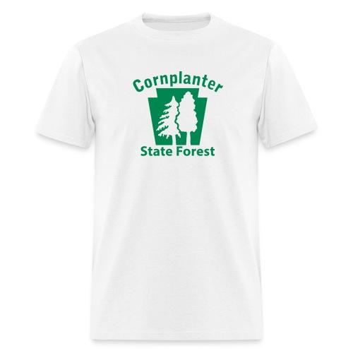 Cornplanter State Forest Keystone w/Trees - Men's T-Shirt