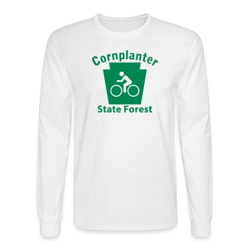 Cornplanter State Forest Keystone Biker - Men's Long Sleeve T-Shirt