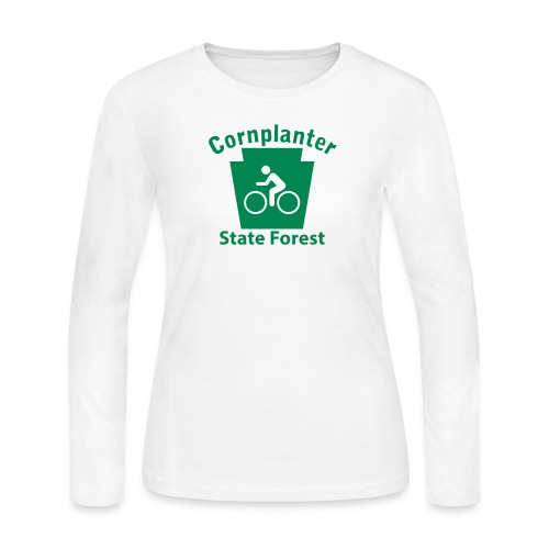 Cornplanter State Forest Keystone Biker - Women's Long Sleeve Jersey T-Shirt
