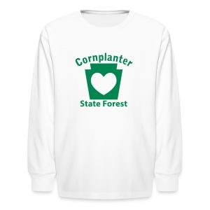 Cornplanter State Forest Keystone Heart - Kids' Long Sleeve T-Shirt