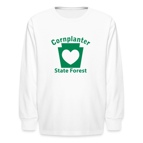 Cornplanter State Forest Keystone Heart - Kids' Long Sleeve T-Shirt