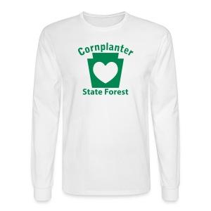 Cornplanter State Forest Keystone Heart - Men's Long Sleeve T-Shirt