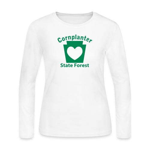 Cornplanter State Forest Keystone Heart - Women's Long Sleeve Jersey T-Shirt