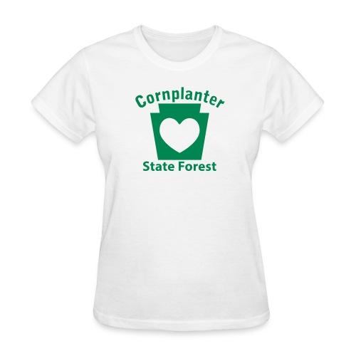 Cornplanter State Forest Keystone Heart - Women's T-Shirt