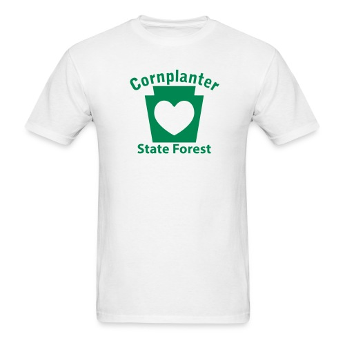Cornplanter State Forest Keystone Heart - Men's T-Shirt