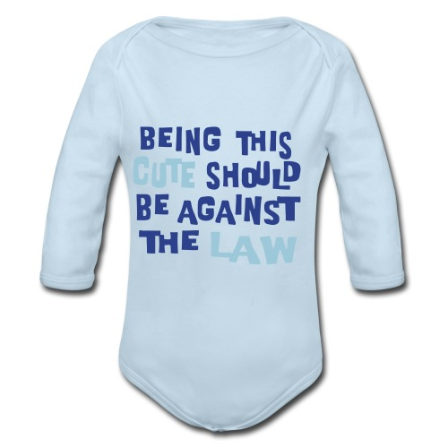 Against the law - Organic Long Sleeve Baby Bodysuit