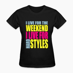 Black I Live For The Weekend (3 color) Women's T-Shirts