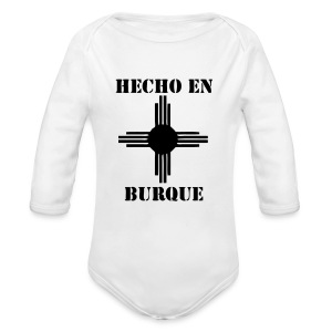 Hecho en Burque - long sleeve jumper - kids - white - Long Sleeve Baby Bodysuit