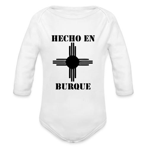 Hecho en Burque - long sleeve jumper - kids - white - Organic Long Sleeve Baby Bodysuit