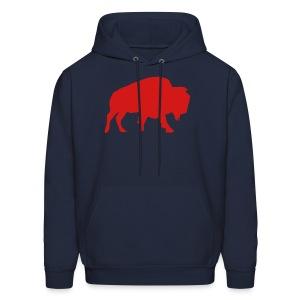 Buffalo Football - Men's Hooded Sweatshirt (Navy) - Men's Hoodie