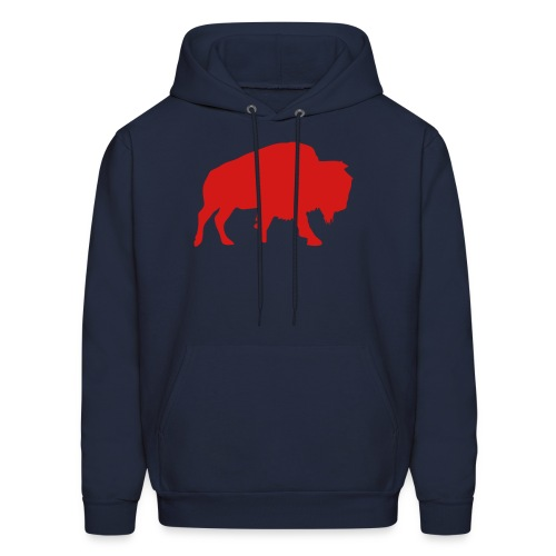 Buffalo Football - Men's Hooded Sweatshirt (Navy) - Men's Hoodie