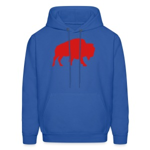 Buffalo Football - Men's Hooded Sweatshirt (Royal Blue) - Men's Hoodie