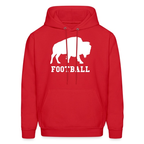 Buffalo Football - Men's Hooded Sweatshirt (Red) - Men's Hoodie