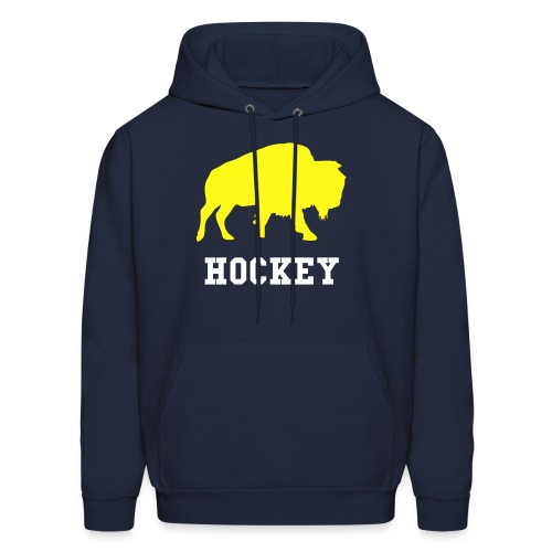 Buffalo Hockey - Men's Hooded Sweatshirt (Navy) - Men's Hoodie