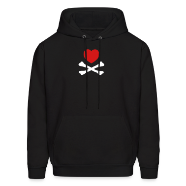 Black hearts crossbones  Hoodies