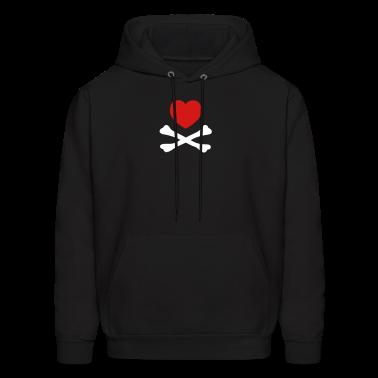 Black hearts crossbones  Hoodies