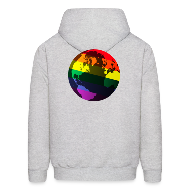 Ash  gay pride globe Hoodies