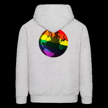 Ash  gay pride globe Hoodies