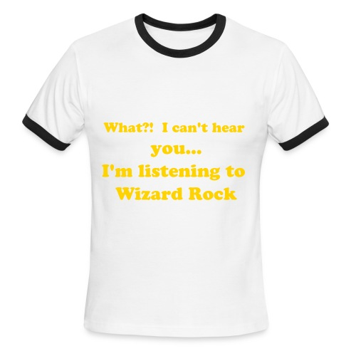 Listening to Wrock T-shirt - Men's Ringer T-Shirt